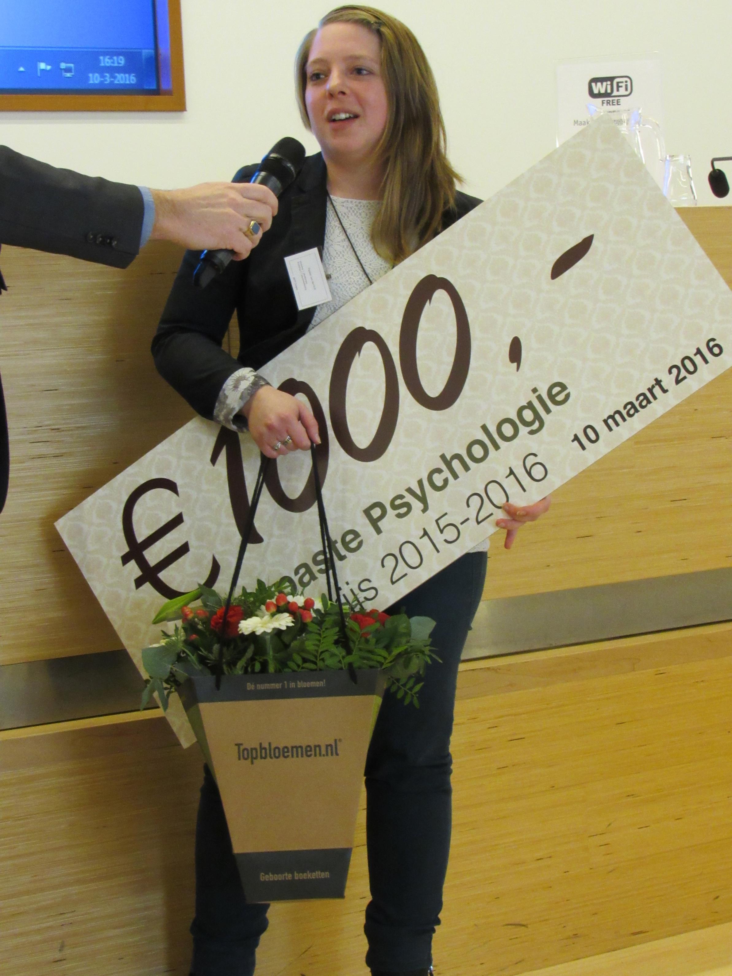 Paulien van de Krift wint Scriptieprijs